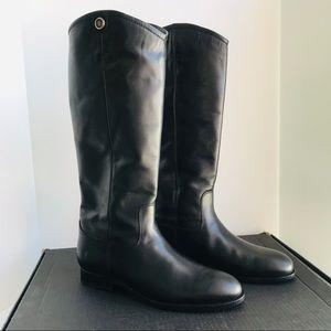 Frye Melissa Button 2 Riding boots Black Sz 9B EUC
